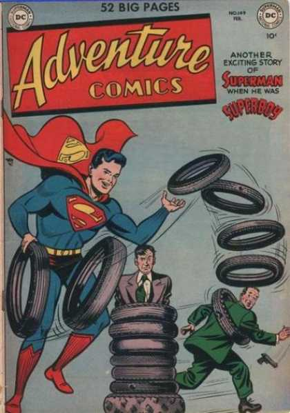 Adventure Comics 149 - Tires - Superboy - Gun - Tire - Tyre