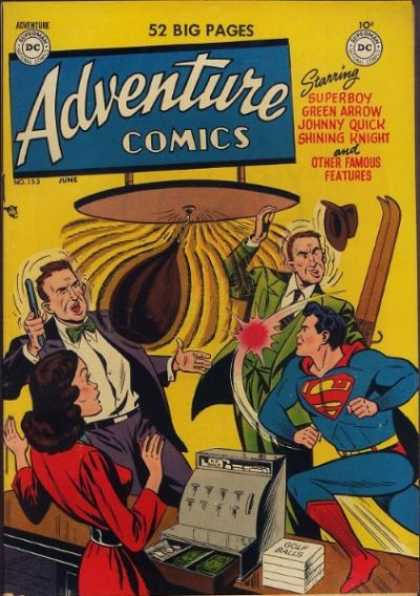 Adventure Comics 153 - Gun - Golf Balls - Cash Register - Superboy - Register
