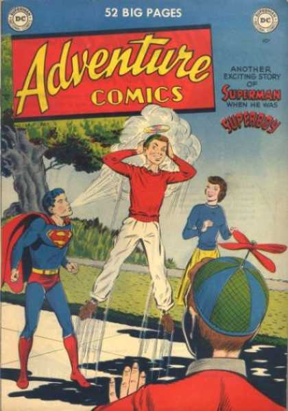 Adventure Comics 154 - Superboy - Superman - Beanie - Blowing - Blow