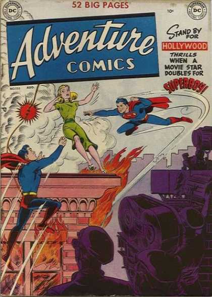 Adventure Comics 155 - Hollywood - Fire - Superboy - Girl - Superman