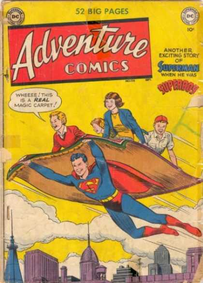 Adventure Comics 156 - Superman - Superboy - Magic Carpet - Carpet - Curt Swan