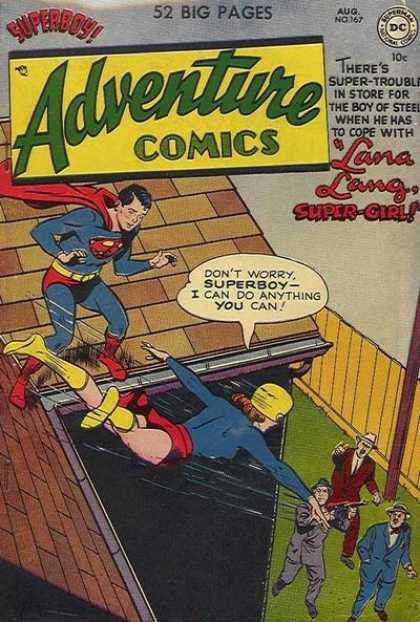 Adventure Comics 167 - Lana Lang - Superboy - Super-girl