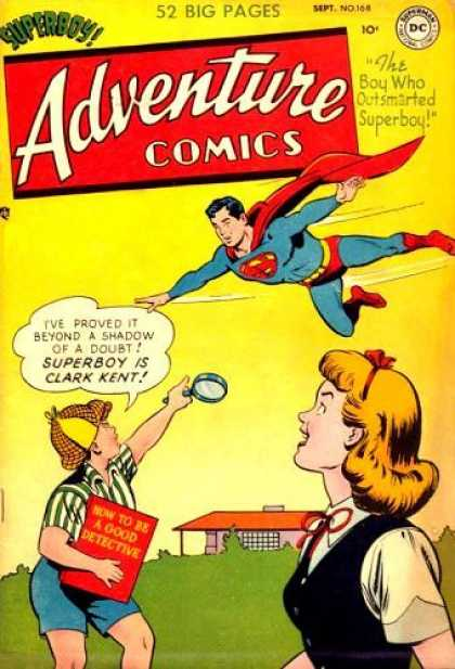 Adventure Comics 168 - Superboy - September - Dc - Superhero - Flight