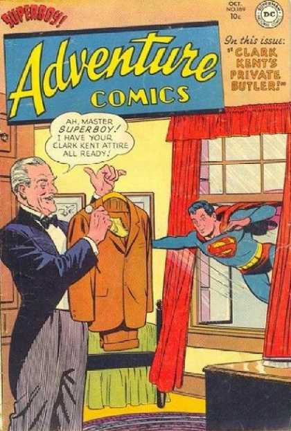Adventure Comics 169 - Butler - Window - Suit - Curtains - Superman