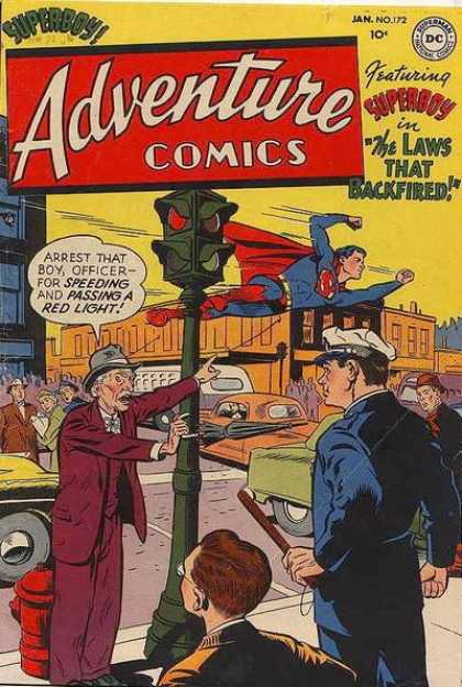 Adventure Comics 172 - Superboy - Superman - Policeman - Traffic Light - Billy Club