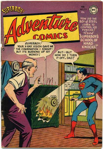 Adventure Comics 173 - Safe - Superboy - X-ray Vision - Xray Vision - Superman