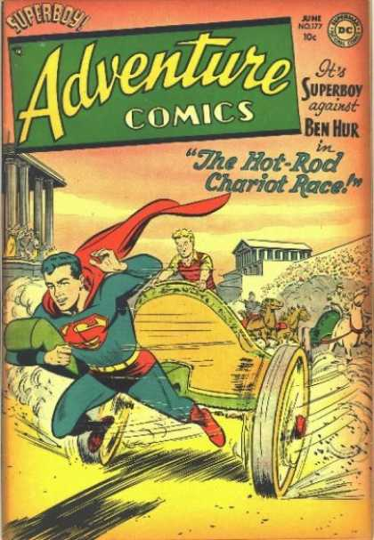 Adventure Comics 177 - Chariot - Race - Horse - Superman - Superboy