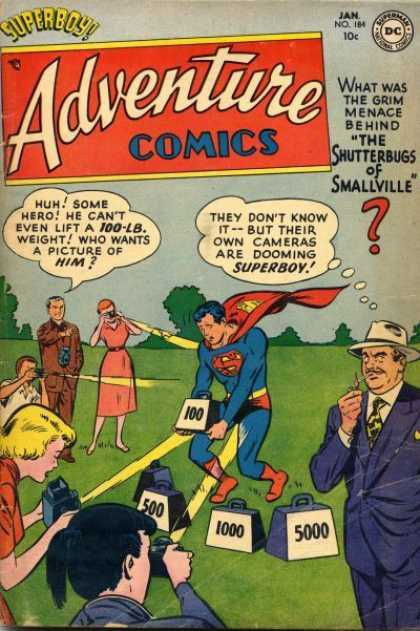 Adventure Comics 184 - Superboy - Weight - Camera
