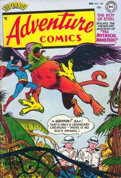 Adventure Comics 185 - Griffin - Superman - Jungle
