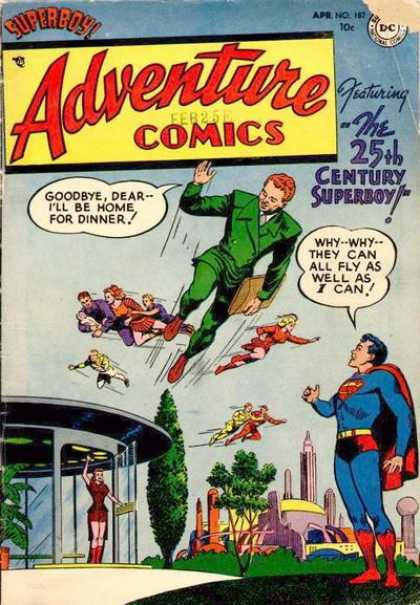 Adventure Comics 187 - Superboy - Superman - Flying - Family - Future - Curt Swan