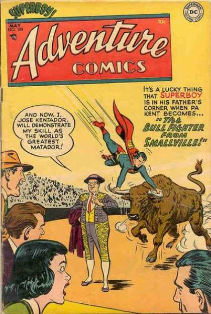 Adventure Comics 188 - Superboy - Bull - Matador - Bull Fighter - Smallville