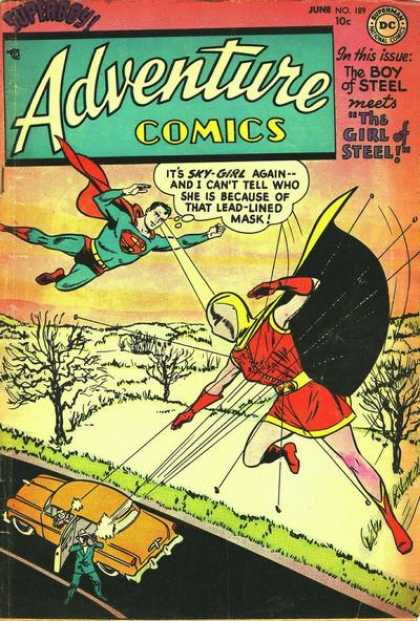 Adventure Comics 189 - Superman - Sky-girl - Car - The Boy Of Steel - The Girl Of Steel