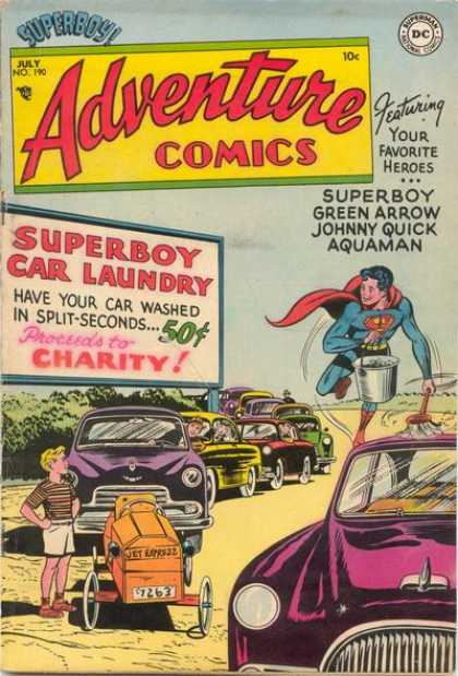 Adventure Comics 190 - Superboy - Cars - Green Arrow - Charity - Split-seconds - Curt Swan