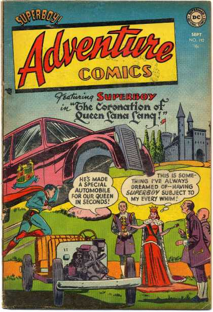 Adventure Comics 192 - Queen - Superboy - Car - Lana Lang - Superman - Curt Swan