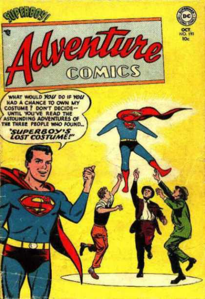 Adventure Comics 193 - Dc - Superboys Lost Costume - Flying - Astounding - Cape