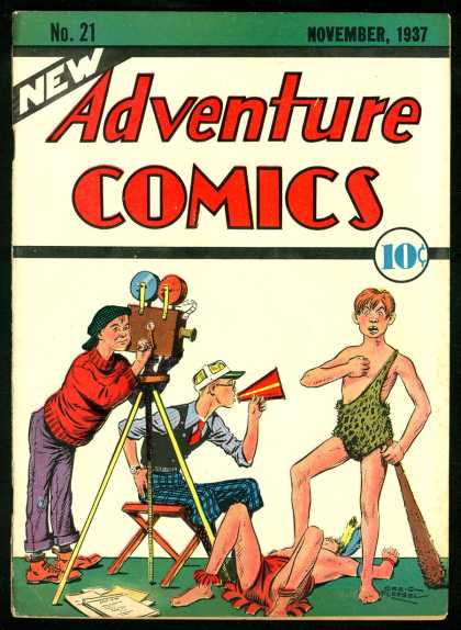 Adventure Comics 21 - Green - Red - Cartons