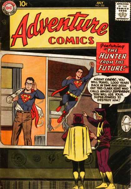 Adventure Comics 250 - Superboy - The Hunter From The Future - Clark Kent - Time Travel - Agent Lorac - Curt Swan