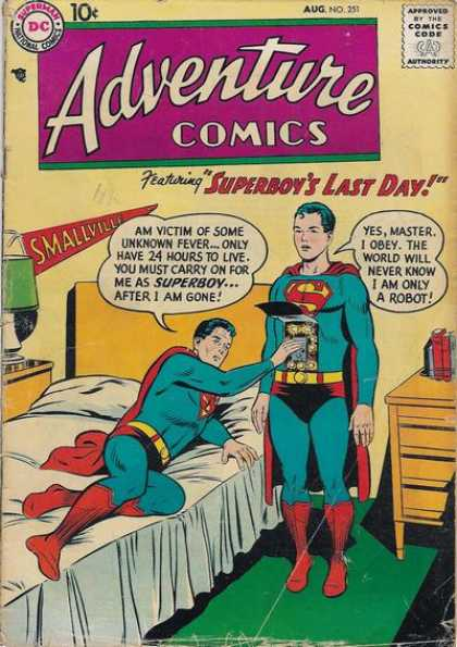 Adventure Comics 251 - Robot - Bed - Superman - Smallville - Superboy - Curt Swan