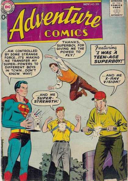 Adventure Comics 254 - Superboy - I Was A Teen-age Superboy - Superman - Super Strenth - X-ray Vision - Curt Swan