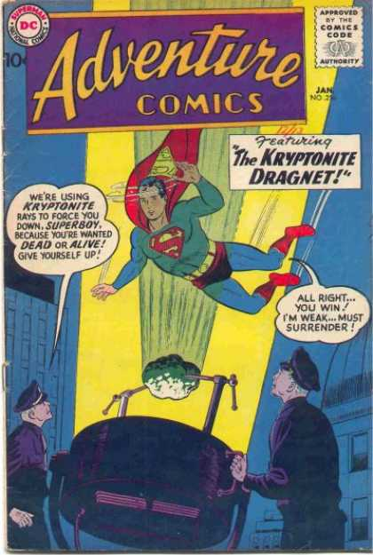 Adventure Comics 256 - Spotlight - Superman - The Kryptonite Dragnet - Superboy - Dc - Curt Swan