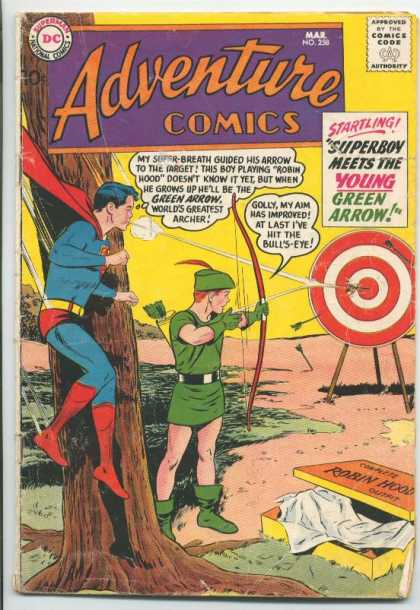 Adventure Comics 258 - Superboy - Green Arrow - Target - Bullseye - Arrow - Curt Swan
