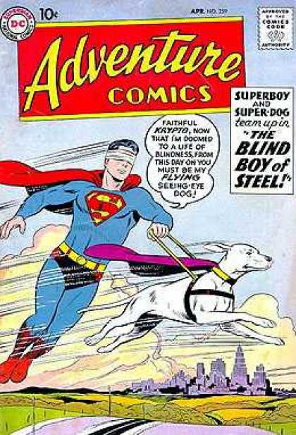 Adventure Comics 259 - Krypto - Superboy - Super-dog - The Blind Boy Of Steel - Flying - Curt Swan