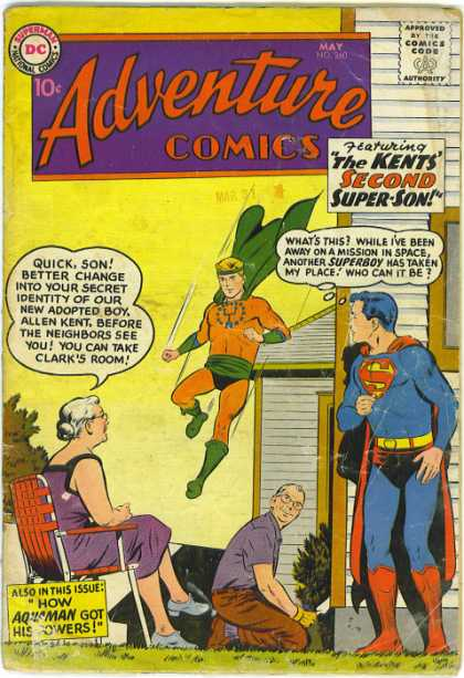 Adventure Comics 260 - Superboy - Cape - S - Man - Woman - Curt Swan