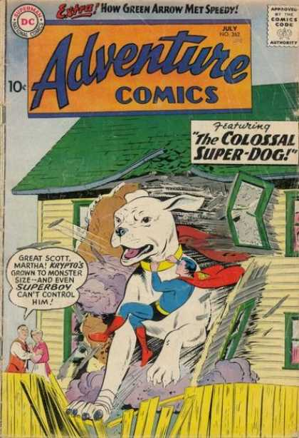 Adventure Comics 262 - House - Superman - Dog - Krypto - People - Curt Swan