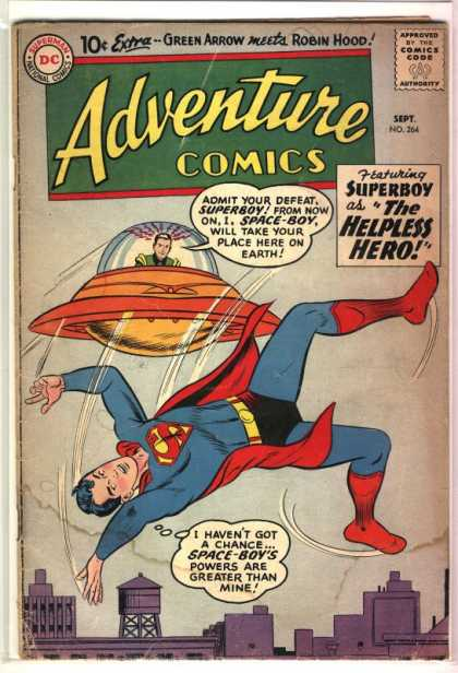 Adventure Comics 264 - Superboy - Ufo - Superman - Helpless Hero - Curt Swan