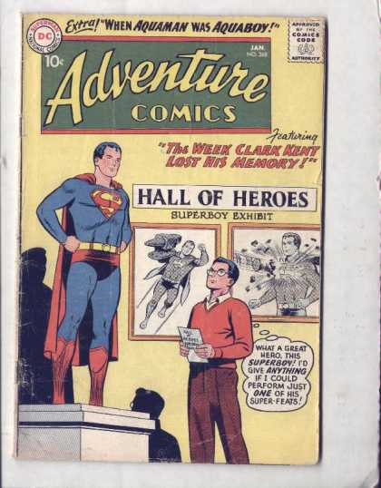 Adventure Comics 268 - Clark Kent - Superboy - Superman - Hall Of Heroes - Superboy Exhibit - Curt Swan