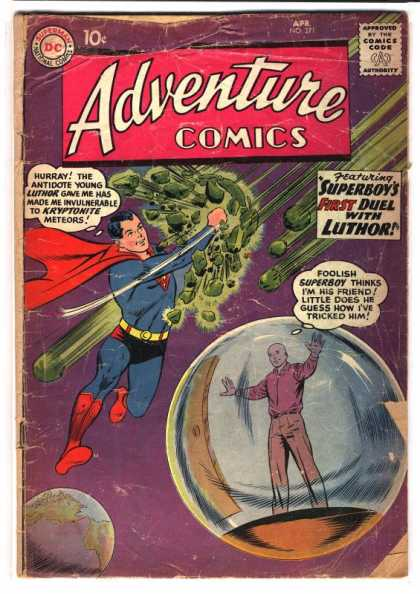 Adventure Comics 271 - Superboy - Luthor - Kryptonite - Meteors - Earth - Curt Swan
