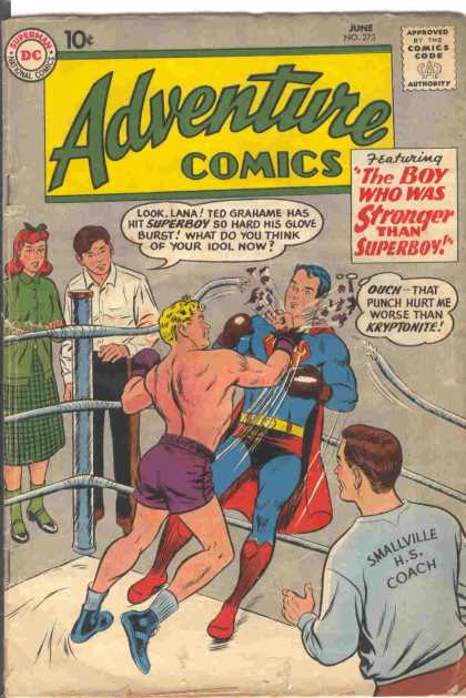 Adventure Comics 273 - Superboy - Boxing - Ted Grahame - Coach - Curt Swan
