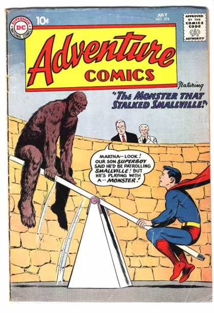 Adventure Comics 274 - Superboy - Monster - Smallville - Superman - See Saw - Curt Swan