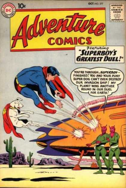 Adventure Comics 277 - Superboy - Aliens - Super Dog - Superboys Greatest Duel - Space Ship - Curt Swan