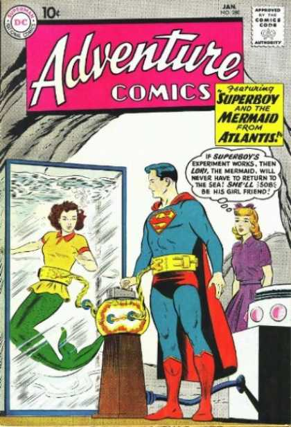 Adventure Comics 280 - Superboy - Mermaid - Guy - Lady - Girl - Curt Swan