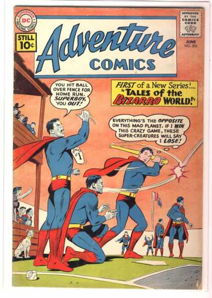 Adventure Comics 285 - Superboy - Superman - Baseball - Bizarro - Curt Swan