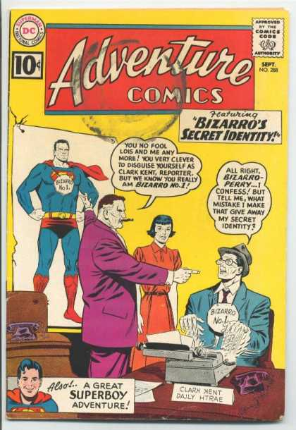 Adventure Comics 288 - Superboy - Bizarro - Perry - Dc - Adventure Comics - Curt Swan