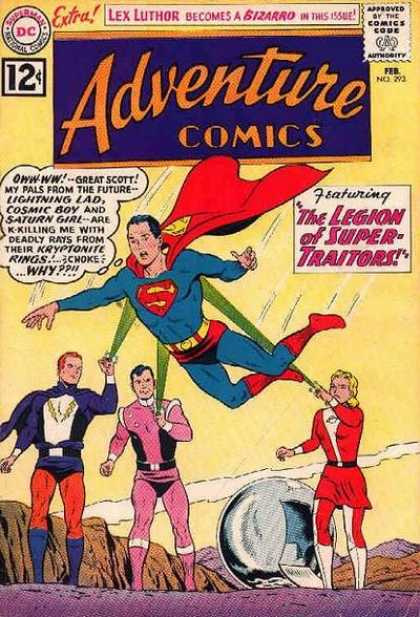 Adventure Comics 293 - Superboy - Lightning Lad - Cosmic Boy - Saturn Girl - Superman - Curt Swan