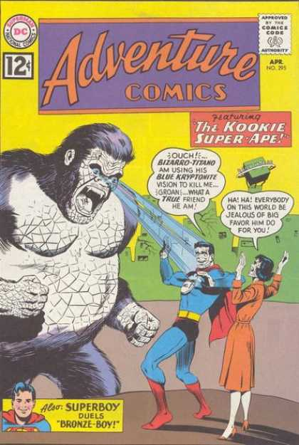 Adventure Comics 295 - Monkey - Gorilla - Eye Lazers - Kookie Super Ape - Adventure Comics