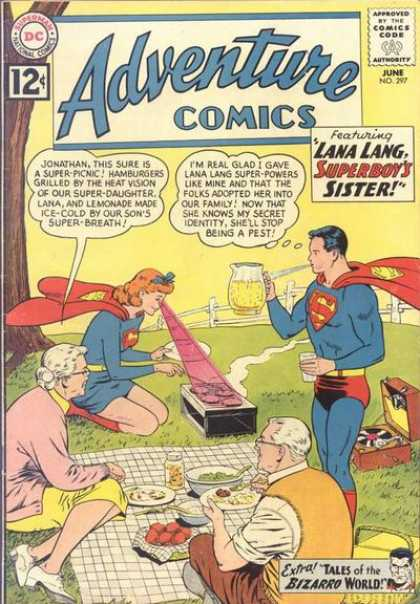 Adventure Comics 297 - Picnic - Superboy - Superman - Lana Lang - Super Hero - Curt Swan