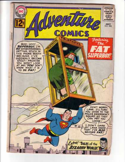 Adventure Comics 298 - Fat - Fat Superboy - Bizarro - Phone Booth - Superboy - Curt Swan