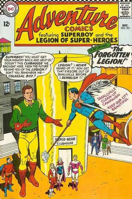 Adventure Comics 351 - Superboy - Superman - Smallville - Clubhouse - Legion Of Super-heroes - Curt Swan