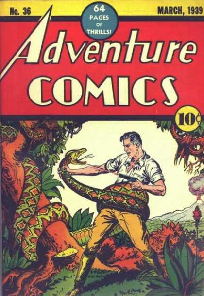 Adventure Comics 36 - Snake - Man - Gun