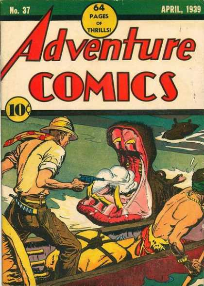 Adventure Comics 37 - Hippo - Gun - Boat
