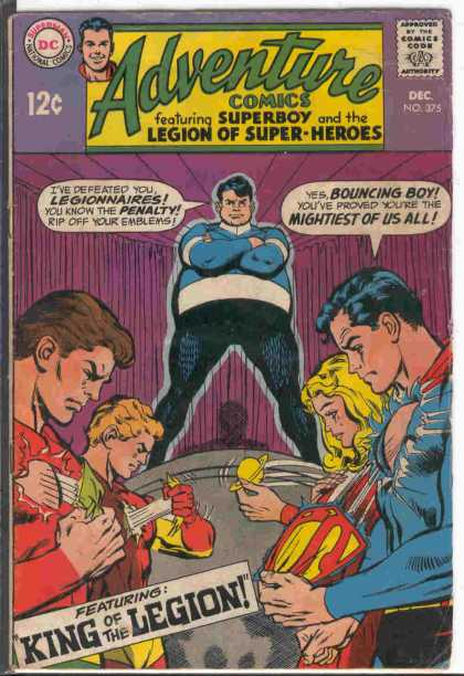 Adventure Comics 375 - Superboy - One Super Man - One Super Lady - One Fat Man - King Of The Legion - Neal Adams