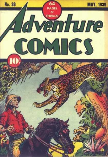 Adventure Comics 38 - Leopard - Jaguar - Horse - Action