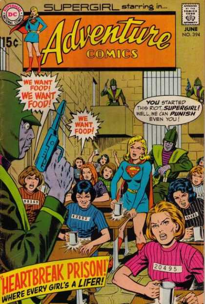 Adventure Comics 394 - Approved By The Comics Code Authority - Superman - Supergirl - We Want Food - National Comics - Curt Swan, Murphy Anderson