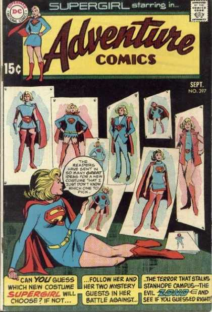 Adventure Comics 397 - Supergirl - Dc Comics - Speech Bubble - Outfit Changes - Fashion - Dick Giordano