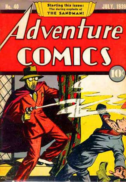 Adventure Comics 40 - Sandman - Gun