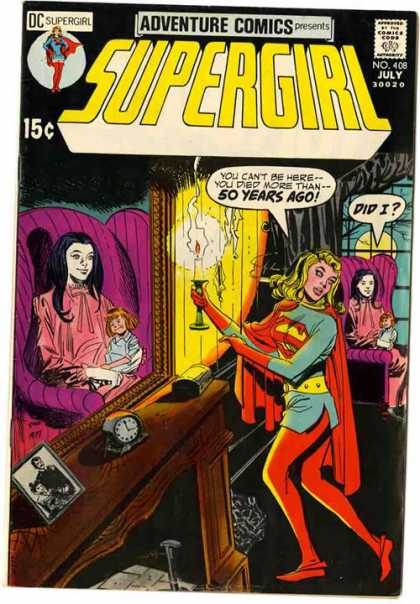 Adventure Comics 408 - Candle - Ghost - Clock - Chair - Mirror - Dick Giordano